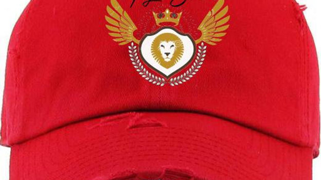 Distressed Logo Hat Red