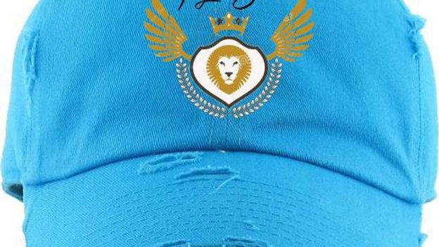 Distressed Logo Hat Rain Blue