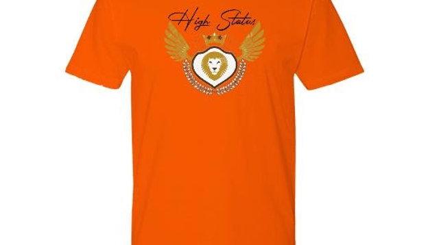 High Status Logo Tee Orange