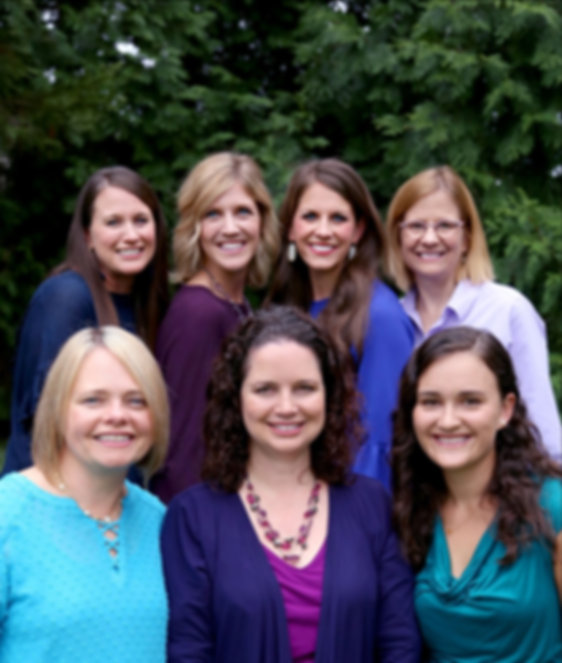 Nurture Pediatric Smyrna and Nolensville Providers: Top left Melissa Fuller MD, Cassie Lefevre MD, Tara Duke FNP, Dana Haselton MD; Bottom left - Catherine Botoms MD, Susan Langone MD, Megan Breyer PNP
