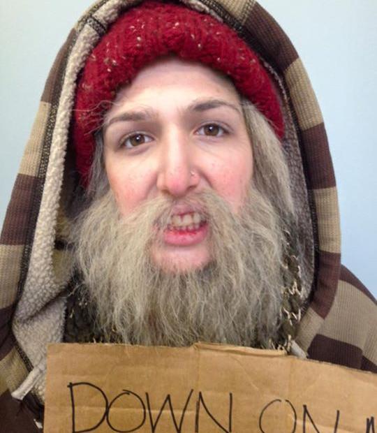 Homeless Character Makeup