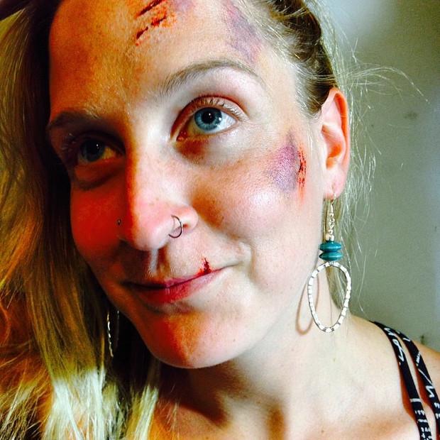 Mountain Bike Accident Makeup