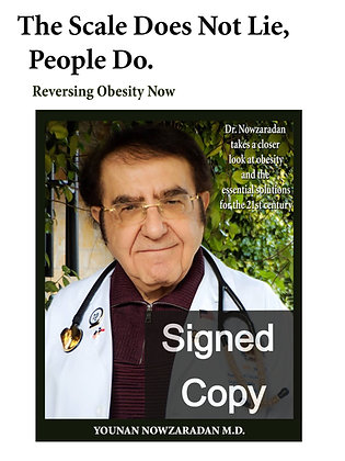 """SIGNED COPY """"The Scale Does Not Lie, people Do."""""""