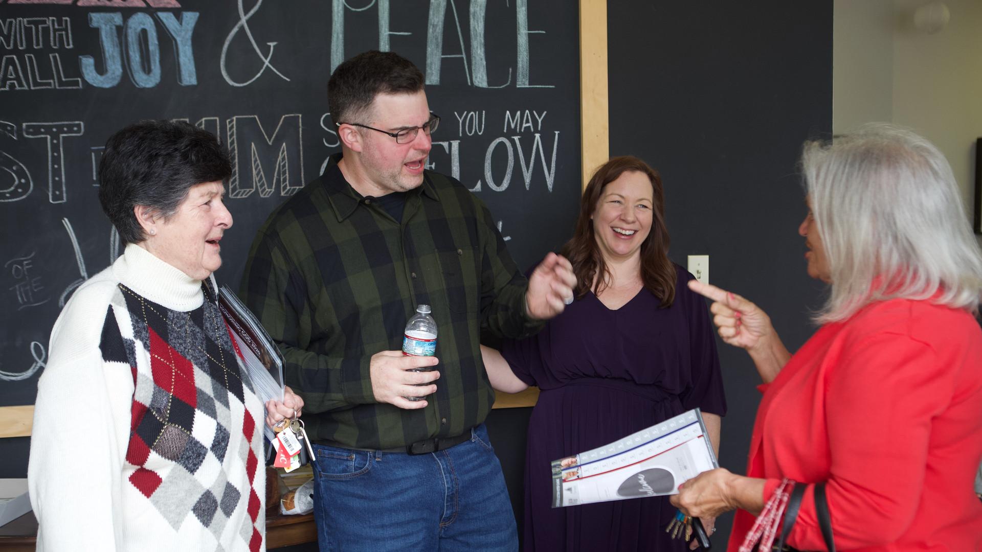 People laughing at Living Hope Church in Williamsburg VA