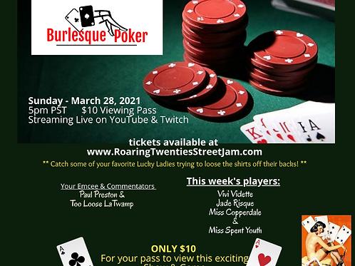 Burlesque Poker & Vegas Variety Show (virtual)