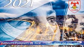 Calendrier des Sapeurs-Pompiers de Nice 2021  | ByStark Interaction  | Aespn
