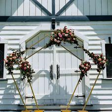 Metal Pentagon Wedding Arch Decoration