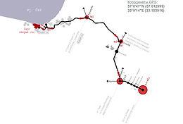 Карта-схема маршрута из Москвы до базы Старый Сиг