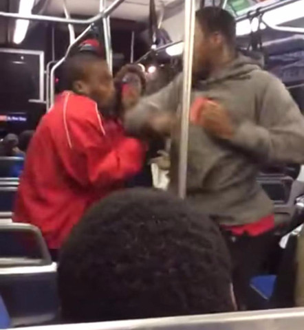 fight on philly bus