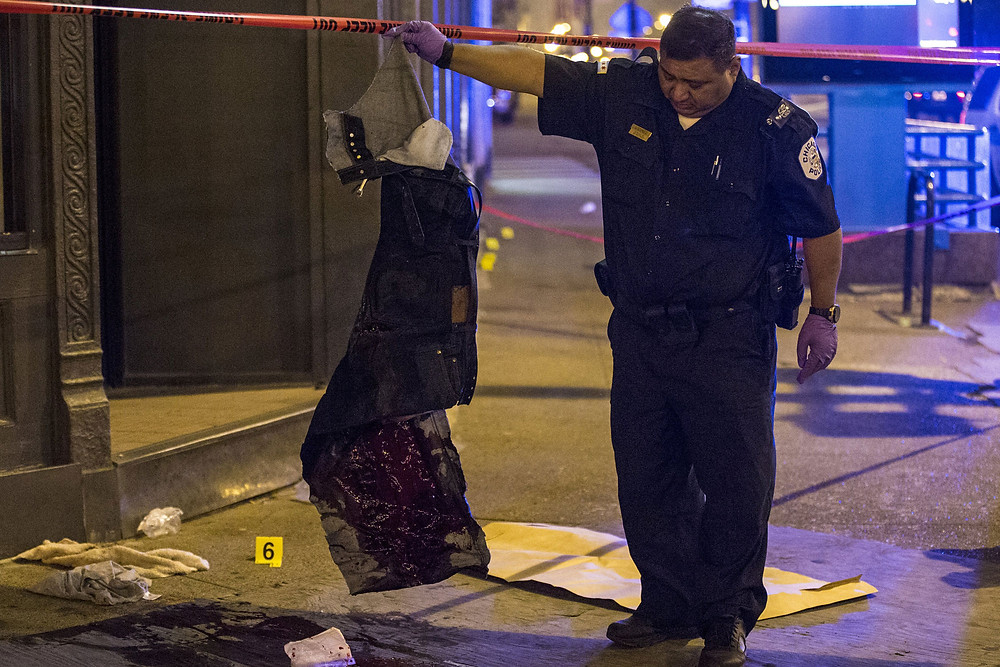 bloody clothes from victim in chicago
