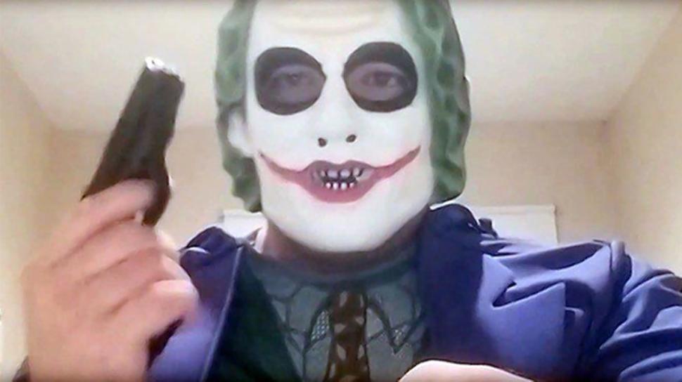 man in joker mask