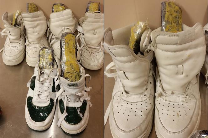 drugs in sneakers