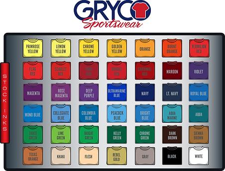 Gryco Sportswear Stock Inks