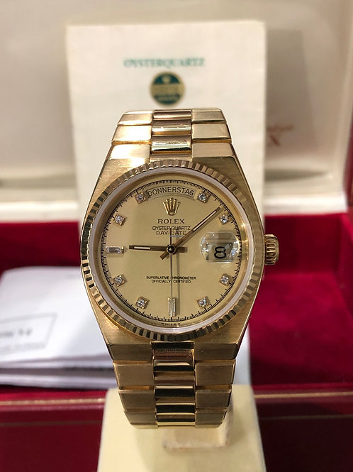 Rolex Day-Date Oysterquartz Diamond