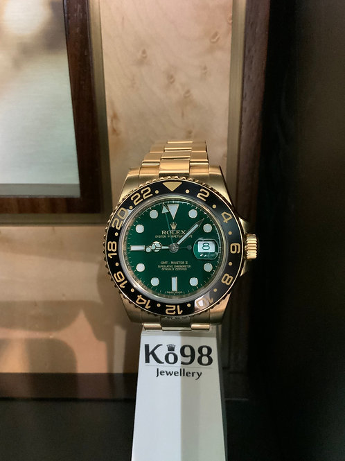 Rolex GMT-Master II - Vollgold GreenDial