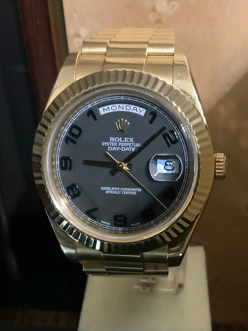 Rolex Day-Date II - 41 Schwarz