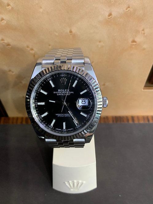 Rolex Datejust 41 - Jubilee - Schwarz