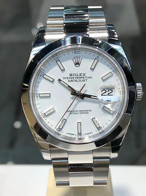 Rolex Datejust - Weiss - 2017