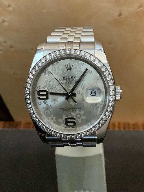 Rolex Datejust - Floral-Dial - DIamanten