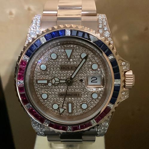 Rolex GMT-Master II - FullRose-Diamond - NEW