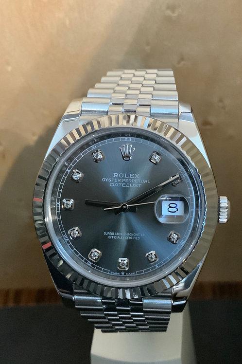 Rolex Datejust - Rhodium-Diamanten