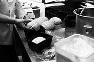 Cafe Below making bread