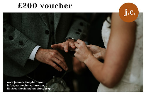 £200 wedding photography voucher