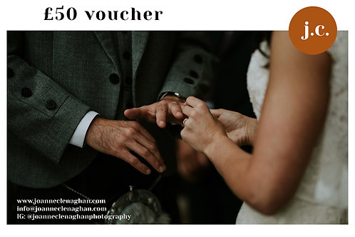 £50 wedding photography voucher