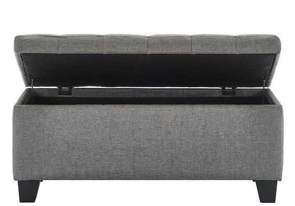 Lila Storage Ottoman in Grey