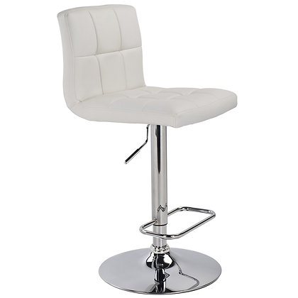 Max Gas Lift Stool in White 2pk