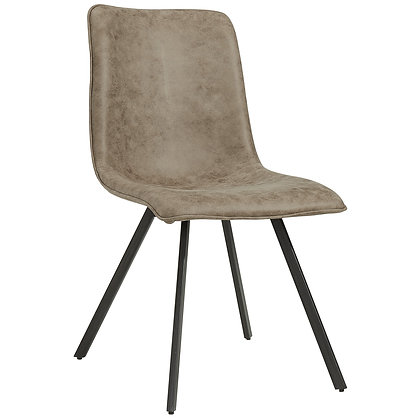 Buren Side Chair in Vintage Brown 2pk
