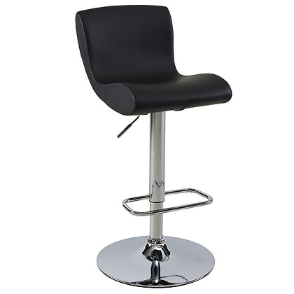 Silvio Gas Lift Stool in Black 2pk