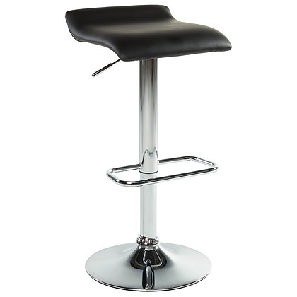 Fabia II Gas Lift Stool in Black 2pk