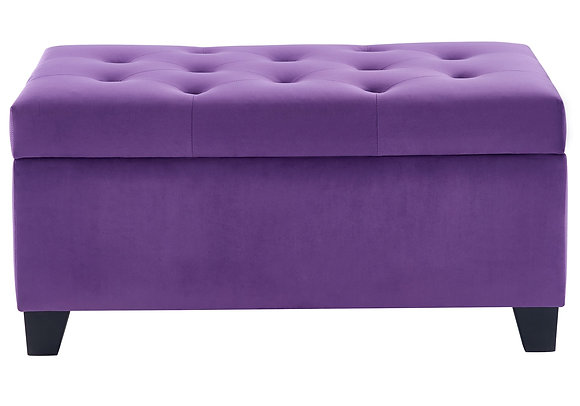 Sally Storage Ottoman in Purple