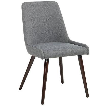 Mia Side Chair in Walnut/Dark Grey 2pk