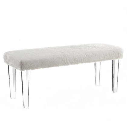 Gia Double Bench in White