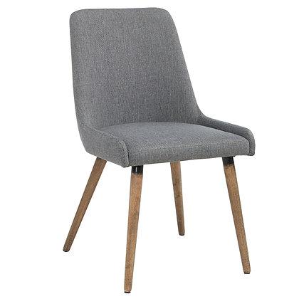 Mia Side Chair in Grey/Dark Grey 2pk