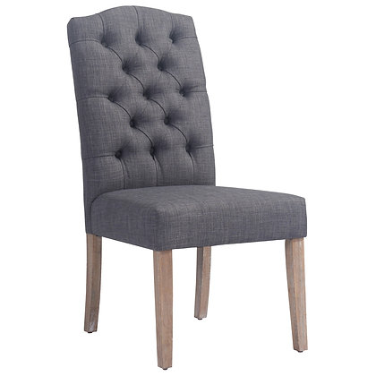 Lucian Side Chair in Grey 2pk