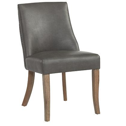 Alton Side Chair in Grey Faux Leather 2pk