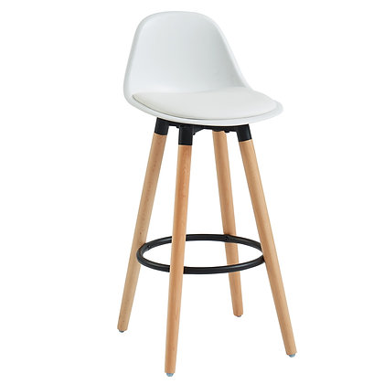 "Diablo 26"" Counter Stool in White 2pk"