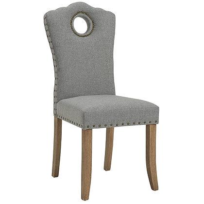 Elise Side Chair in Grey/Light Grey 2pk