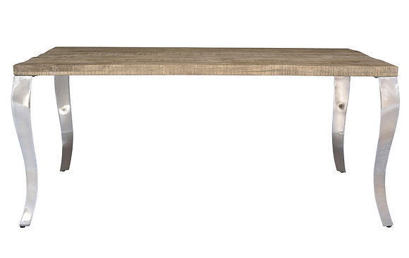 Natalia Dining Table in Reclaimed and Chrome