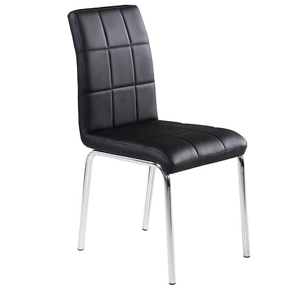 Solara II Side Chair in Black 4pk