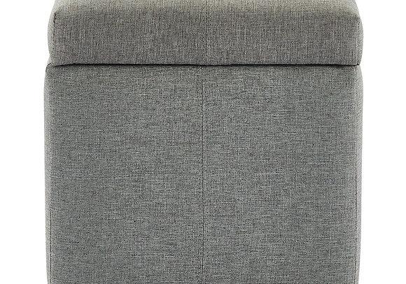 Juno Storage Ottoman in Grey