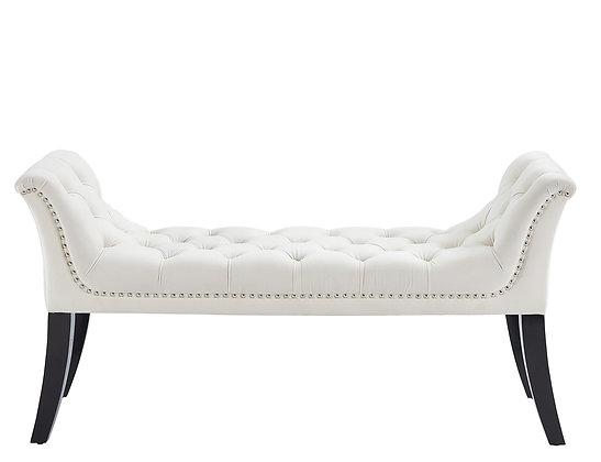 Velci Bench in Ivory