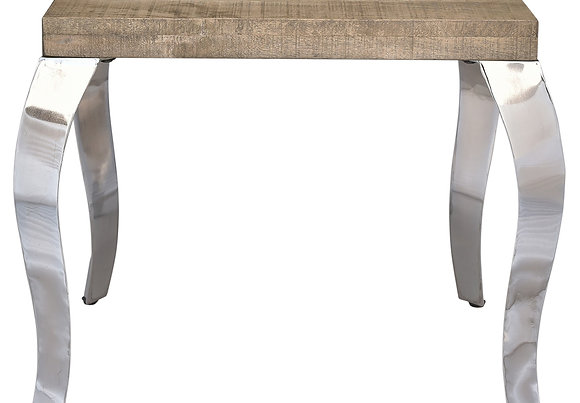 Natalia Accent Table in Reclaimed and Chrome