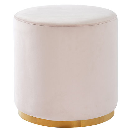 Sonata Round Ottoman in Blush and Gold