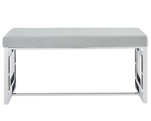 Eros Double Bench in Silver and Grey