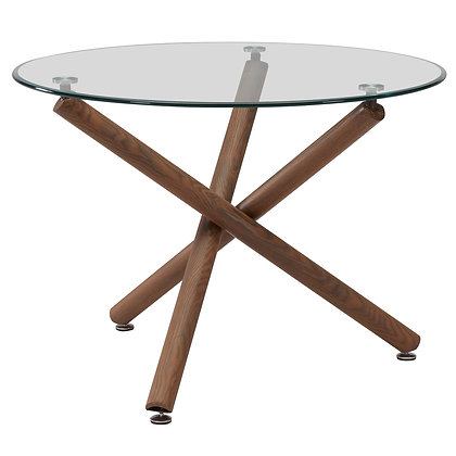 """Rocca Dining Table 40"""" in Weathered Oak"""