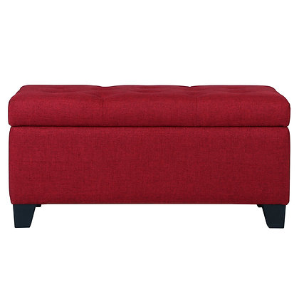 Sarah Storage Ottoman in Red